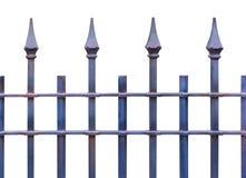 Rivesta di ferro il recinto stile country del picchetto isolato su fondo bianco Immagine Stock Libera da Diritti
