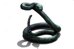 Rivesta di ferro il serpente isolato su bianco, serpente del ferro fatto dei dadi Immagini Stock Libere da Diritti