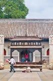Rivesta di ferro l'altare al tempio di Bai Yun Guan Buddhist, Pechino, Chinan Fotografia Stock