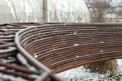 Rivesta di ferro l'arco che si trova nella pila, l'arco Fotografia Stock