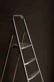 Rivesta di ferro una scaletta di un punto argenteo Fotografie Stock Libere da Diritti