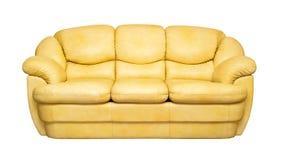 Rivesta di pelle il sofà Immagini Stock Libere da Diritti