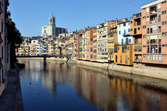Riveste il de l'Onyar, Catalogna, Spagna Fotografia Stock