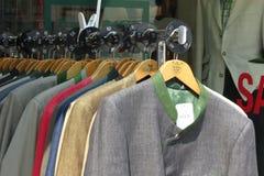 Rivestimenti del vestito degli uomini Fotografia Stock