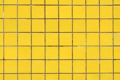 Rivestimento ceramico giallo per fondo 2 Fotografia Stock