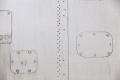 Rivestimento del metallo degli aerei Fotografia Stock Libera da Diritti