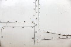 Rivestimento del metallo degli aerei Immagini Stock Libere da Diritti