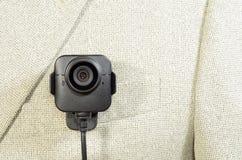 Rivestimento di bianco della macchina fotografica del corpo fotografie stock libere da diritti