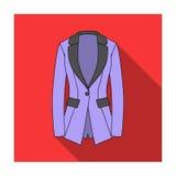 Rivestimento di Grey Women s con le tasche Stile austero del lavoro Icona dell'abbigliamento delle donne singola nelle azione pia illustrazione di stock