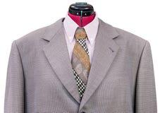 Rivestimento di lana rosa con alto vicino del legame e della camicia Fotografia Stock Libera da Diritti