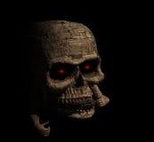 Rivestimento di legno del cranio terrificante lasciato Immagine Stock Libera da Diritti