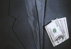 Rivestimento e dollari fotografia stock libera da diritti
