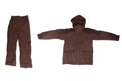Rivestimento e pantaloni del Brown immagine stock