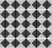Rivestimento geometrico del modello senza cuciture in bianco e nero fotografia stock