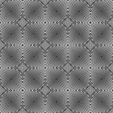 Rivestimento geometrico del modello senza cuciture in bianco e nero fotografie stock