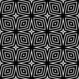 Rivestimento geometrico del modello senza cuciture in bianco e nero fotografie stock libere da diritti