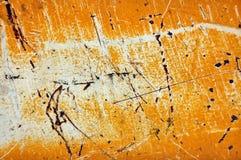 Rivestimento graffiato del metallo Immagini Stock