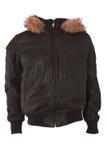 Rivestimento maschio di inverno con pelliccia Fotografia Stock Libera da Diritti