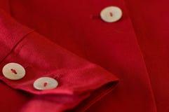 Rivestimento rosso Fotografie Stock