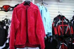 Rivestimento rosso del panno morbido Fotografia Stock