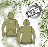 Rivestimento scuro della camicia del maglione verde Immagini Stock Libere da Diritti
