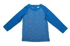 Rivestimento a strisce blu Isolato su bianco Immagine Stock Libera da Diritti