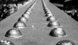 Rivet bridge detail black and white Stock Images