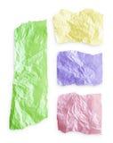 rivet färgrikt papper royaltyfri foto
