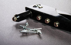 Rivet mounting and consumables. Gray Royalty Free Stock Images
