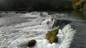 River Mreznica and its waterfalls. Clean river Mreznica and its waterfalls Royalty Free Stock Photo