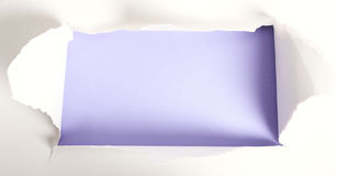 rivet papper royaltyfri fotografi