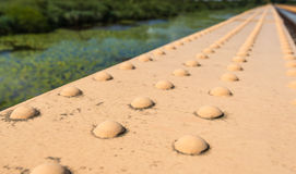 Riveted bridge section Stock Photography