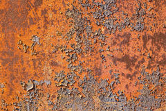 Riveted metal plate in rust Stock Images