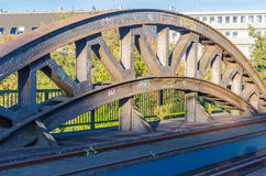 Riveted old bridge arch. Detail nice Riveted old bridge arch Stock Image