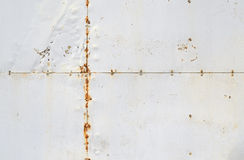 Riveted old rusty metal background Stock Photography