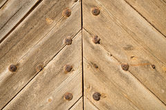 Riveted wood Royalty Free Stock Photo