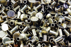 Rivets. Group of rivets used in several industries including aircraft construction and boat building stock images