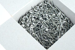 Rivets in a box Stock Image