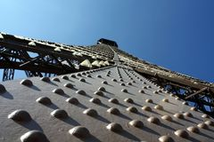 The rivets in the construction of the Eiffel tower. In Paris Royalty Free Stock Image