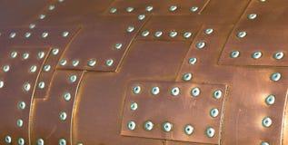Rivets d'en cuivre Photo libre de droits