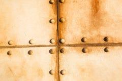 Rivets en métal de bateau Images libres de droits