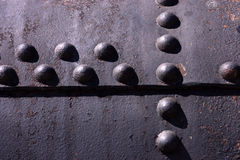 Rivets in iron. Stock Images