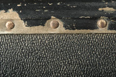 Rivets and leather parts from suitcase Royalty Free Stock Photos