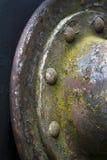 Rivets på ridit ut belägger med metall, grund DOF Royaltyfri Fotografi