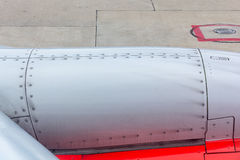 Rivets Part of an airplane wing and fuselage with rivets Royalty Free Stock Photo