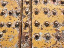 Rivets and rust on an old railway bridge Royalty Free Stock Photography