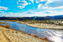 The riveway. The photo was taken in Keshiketeng Banner in Chifeng city Nei Monggol Autonomous Region, China Stock Photo