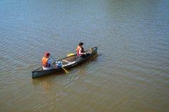 Canoe nature scene royalty free stock photo