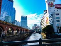 Rivière à Tokyo Photographie stock libre de droits