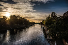 Rivière à York, Yorkshire, Angleterre le R-U Image stock